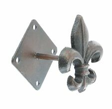 Cast Iron Fleur-de-lis Wall Hook / Hanger - Purse Cap Coat Hat Tuscan Saints