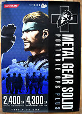 Metal Gear Solid Portable Ops RARE PSP 51.5 cm x 73 cm Japanese Promo Poster
