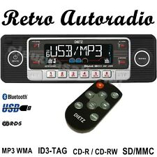 Autorradio retro ~~~ style negro USB SD, MMC BT CD mp3 para Oldtimer Youngtimer
