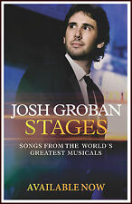 JOSH GROBAN Stages 2015 Ltd Ed New RARE Poster +FREE Pop/Rock Poster!