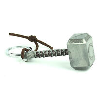 Fashion Keychain Silver Color Gift Metal Chain Thor's Hammer Keyring 1pc Jewelry