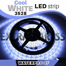 5M 300Leds 3528 COOL WHITE Super Bright LED Strip SMD Light Waterproof 12V DC US