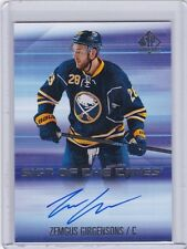 ZEMGUS GIRGENSONS 2015-16 UPPER DECK SP AUTHENTIC SIGN OF THE TIMES AUTO GROUP C