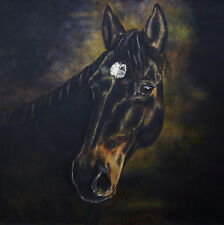"CUSTOM HORSE PORTRAIT PAINTING by artist BETS 30"" X 30"" Your Wonderful Horse!!"