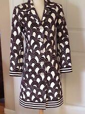 Trina Turk - Long Blazer Jacket -feather print-Long Sleeve -Sz 6