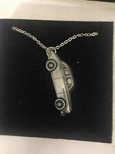 MG Magnette ZB ref132 Car Emblem on Silver Platinum Plated Necklace 18""