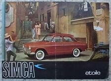 SIMCA ETOILE Family Saloon Car Sales Brochure 1962