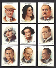 CIGARETTE CARDS. Wills Tobacco.FAMOUS BRITISH AUTHORS.(Large).(1937).(Full Set).