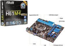 SCHEDA MADRE ASUS H61M-K MOTHERBOARD 1155 Socket H61 NUOVA MAINBOARD i3 i5 i7