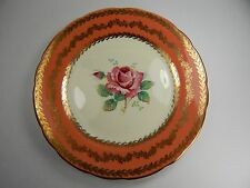 "Paragon Side Plate 7"". Large Big Pink Rose Gold Pattern Design Double Warrant"