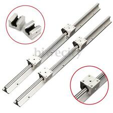 2pc SBR12-600mm 12MM Fully Support Linear Rail Shaft Rod w/ 4pc SBR12UU Block