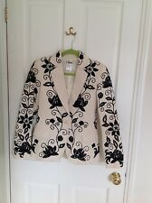 Chloe Black and Cream Pattern Fitted Jacket, WORN ONCE, size 10