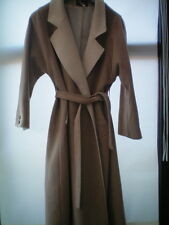 SIZE 14 CASHMERE & WOOL COAT GLENEAGLES OF SCOTLAND CREAM FULL LENGTH VGC