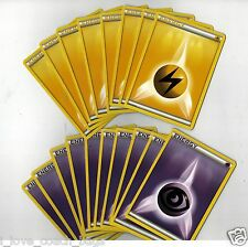POKEMON Set 10 Psychic +8 Lightning Energy NON-HOLO Ring of Lightning THEME DECK