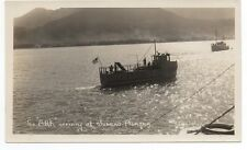"1920s Photo of the Boat "" Ark "" arriving at Juneau Alaska"
