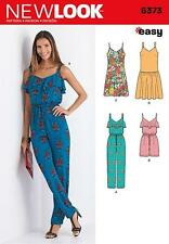NEW LOOK SEWING PATTERN Misses' Jumpsuit or Romper &  Dresses SIZE 8 - 20 6373
