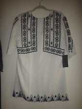 ZARA EMBROIDERED MINI DRESS BOHO TUNIC SIZE SMALL NWT SOLD OUT 2015