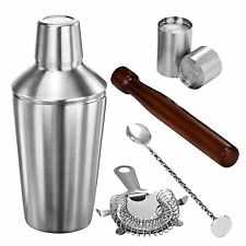 VonShef Stainless Steel Manhattan Cocktail Drinks Shaker Bar Set Kit