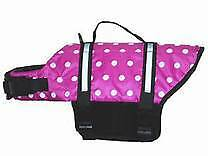 Small Pink Dog Life jacket, narrowboat, boat, barge, yacht, cruiser.