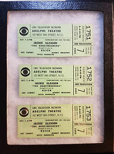 Vintage 1955 CBS TV - THE HONEYMOONERS ***SCARCE 3 in a row Taping Tickets***