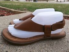 Women's Born Brown Leather Sandals Size 8