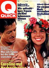 Kult-Illustrierte QUICK, Nr 33 von 1978, Cover Caroline von Monaco und Junot