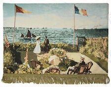 Tapestry Wall Hanging by MONET - Terrace at Saint-Adresse Seaside Landscape