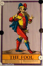 US Game Systems 1970 Vintage Tarot Cards Poster The Fool Printed in USA Fortune