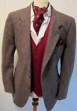 GIVENCHY mens VINTAGE BROWN HERRINGBONE WOOL TWEED SPORTS JACKET BLAZER 42""