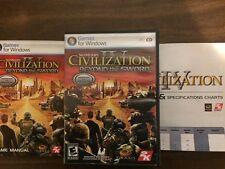Sid Meier's Civilization IV Beyond the Sword PC Excellent Condition Complete