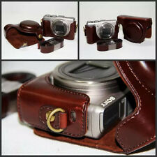 Vintage Leather Camera case bag for Sony Cyber-shot DSC-HX50 HX50V HX60 HX30