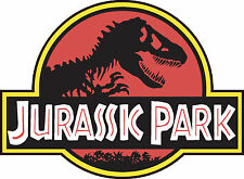 "JURASSIC PARK Logo 18"" Jumbo Vinyl Decal Bumper Sticker Jeep Safari Dinosaur"
