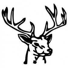 Autocollant Cerf animal stickers adhesif tête cerf rose 12 cm