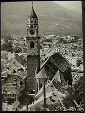 Glass Magic Lantern Slide CITY ROOFTOP VIEW  C1920 PHOTO NORTHERN ITALY ? NO33