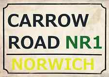 Norwich City Football Art Print Street Sign The Canaries Footy Design