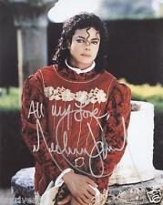 MICHAEL JACKSON Signed Photograph - Pop Star Singer / Vocalist 7x5 Red top