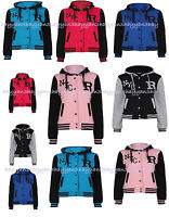 New Children Kids Boys  Girls R NYC Baseball Hooded  Jackets  SIZES-1 TO 14