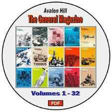 The GENERAL Magazine by Avalon Hill - PDF DVD - 189 Issues plus EXTRAS