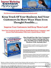 Internet Marketing And Small Business Owner Contact Manager PC Software - Cd/Dvd