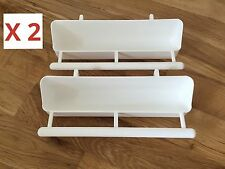 2 x 17,5 cm Alimentatore con posatoi PER UCCELLI GABBIA / VOLIERA / Finch / Budgie / Canarie, ecc.