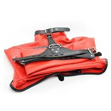 Straight jacket, Red half costume party escapology suit, Leather quality item