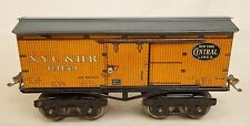 IVES VERY RARE #125 NEW YORK CENTRAL #64159 TINPLATE BOX CAR-VG. ORIG 1918 ONLY!