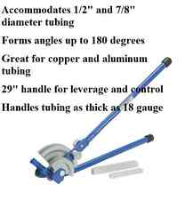 "Heavy Duty 1/2"" x 7/8"" 2 in 1 Tubing Bender for tubing up to 18 gauge thickness"