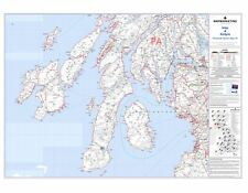 Postcode Sector Map 24 Islay and Kintyre - Laminated Wall Map