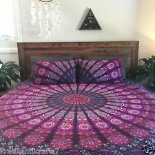 Beautiful Indian Mandala Queen Bed-Covers, Bed Sheets Hippie Indian Tapestries