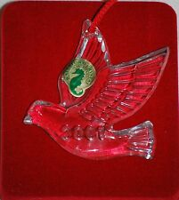 WATERFORD, MEMORIES ORNAMENT, 10TH & FINAL, 2001 DOVE, MINT IN ORIGINAL BOX