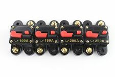 200 AMP CAR STEREO INLINE POWER CIRCUIT BREAKER REPLACES FUSE HOLDER 100A 12Volt