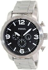 Fossil Men's Nate JR1353 Silver Stainless-Steel Analog Quartz Watch