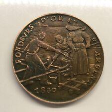 Médaille En Bronze 1830 Fondeurs d'Or et d'Argent Monnaie de Paris Medal