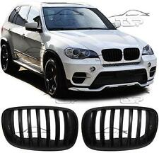 FRONT GRILLS BLACK MATT FOR BMW X5 E70 06-13 SPOILER BODY KIT NEW